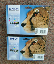 T0715twin - PAIR of genuine Epson T0715 Cheetah Multi-packs (2 sets)