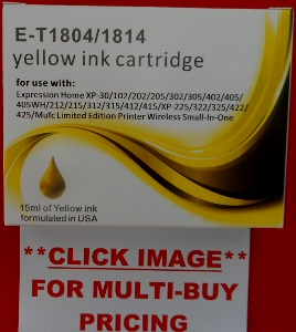 T1814Yc -  Epson Daisy XL Compatible YELLOW Ink Cartridge