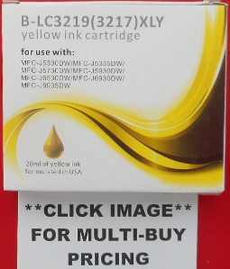 LC3219XL YELLOW Guaranteed Compatible Ink Cartridge